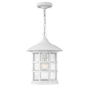 Hillgate White 14-Inch One-Light Outdoor Pendant