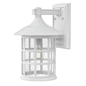 Hillgate White 15-Inch One-Light Outdoor Wall Mount
