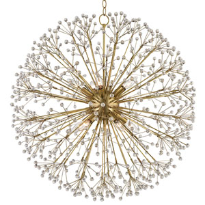 Broome Aged Brass Ten-Light Chandelier