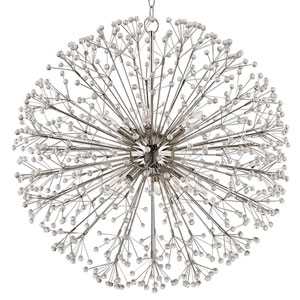 Broome Polished Nickel Ten-Light Chandelier