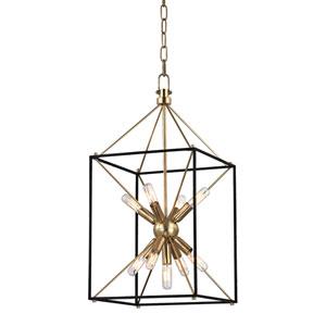 Zander Aged Brass 12-Inch  Nine-Light Sputnik Lantern Pendant