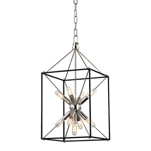 Zander Polished Nickel 12-Inch Nine-Light Sputnik Lantern Pendant