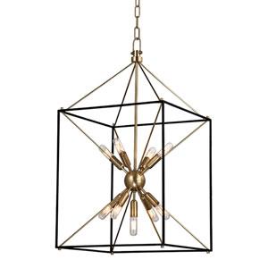 Zander Aged Brass 16-Inch Nine-Light Sputnik Lantern Pendant