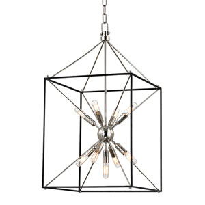 Zander Polished Nickel 16-Inch Nine-Light Sputnik Lantern Pendant