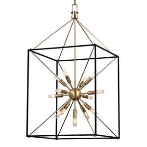 Zander Aged Brass 13-Light Sputnik Lantern Pendant