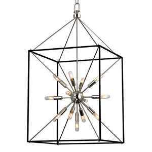 Zander Polished Nickel 13-Light Sputnik Lantern Pendant