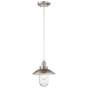 Carlton Brushed Nickel One-Light Mini-Pendant