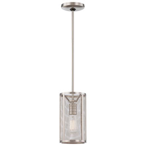 Carlton Brushed Nickel One-Light Mini-Pendant with Mesh Shade
