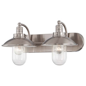 Carlton Brushed Nickel Two-Light Vanity