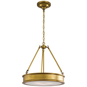 Bridgewater Gold Three-Light Drum Pendant