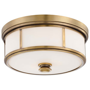 Bridgewater Gold Two-Light Drum Flush Mount