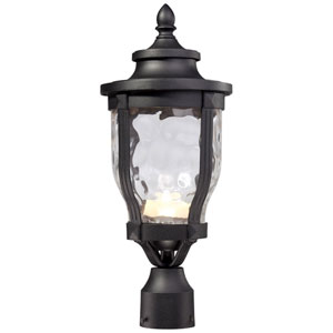 Westcott Black LED Outdoor Post Mount