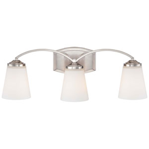 Everly Brushed Nickel Three-Light Vanity