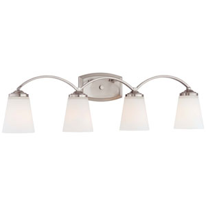 Everly Brushed Nickel Four-Light Vanity