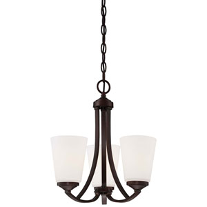 Everly Bronze Three-Light Chandelier