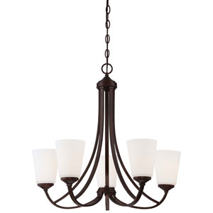 Everly Bronze Five-Light Chandelier