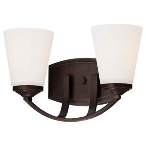 Everly Bronze Two-Light Vanity