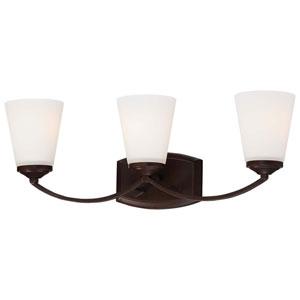 Everly Bronze Three-Light Vanity