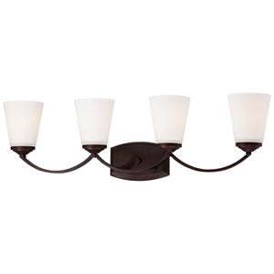 Everly Bronze Four-Light Vanity