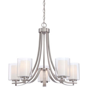 Harrow Brushed Nickel Five-Light Chandelier