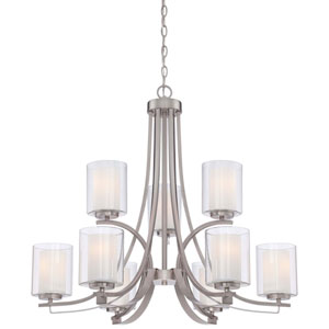 Harrow Brushed Nickel Nine-Light Chandelier