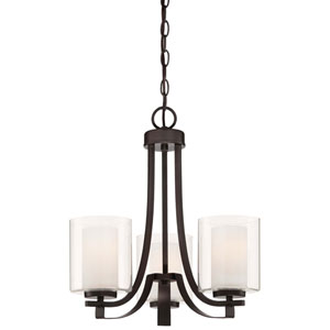 Harrow Bronze Three-Light Chandelier
