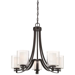 Harrow Bronze Five-Light Chandelier