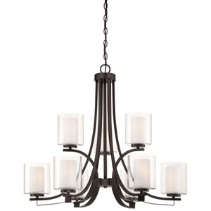 Harrow Bronze Nine-Light Chandelier