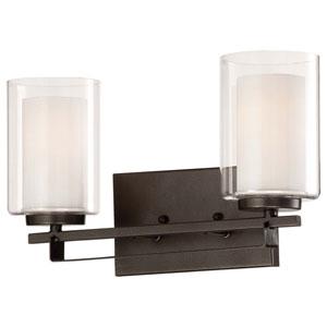 Harrow Bronze Two-Light Vanity
