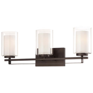 Harrow Bronze Three-Light Vanity