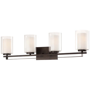 Harrow Bronze Four-Light Vanity