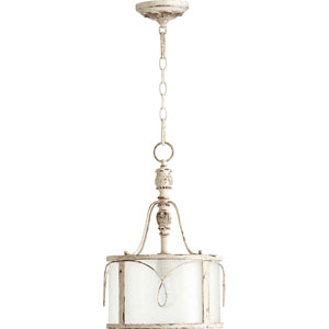 Bouverie French White One-Light Drum Pendant