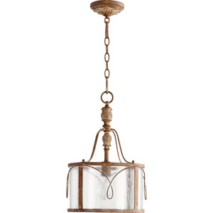 Bouverie Soft Umber One-Light Drum Pendant