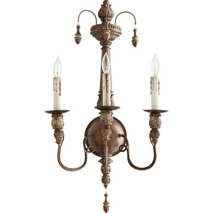Bouverie Vintage Copper 14-Inch Three-Light Wall Sconce