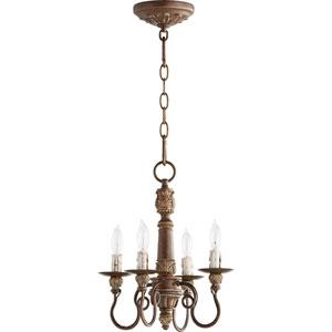Bouverie Vintage Copper 12-Inch Four-Light Chandelier