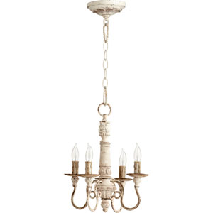Bouverie French White 15-Inch Four-Light Chandelier