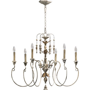 Bouverie French White Six-Light Chandelier