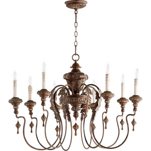 Bouverie Vintage Copper 38-Inch Eight-Light Chandelier
