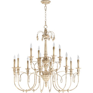 Bouverie French White 12-Light Chandelier