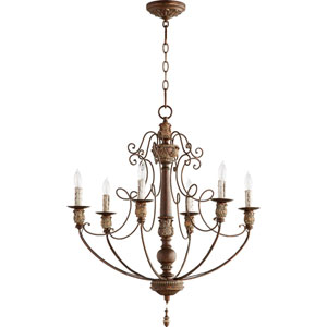 Bouverie Vintage Copper 27-Inch Six-Light Chandelier