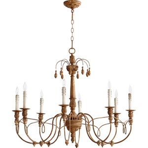 Bouverie Soft Umber 30-Inch Eight-Light Chandelier