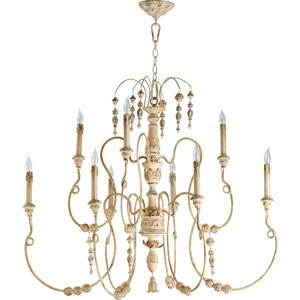 Bouverie French White Nine-Light Chandelier