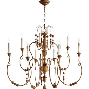 Bouverie Soft Umber 32-Inch Nine-Light Chandelier