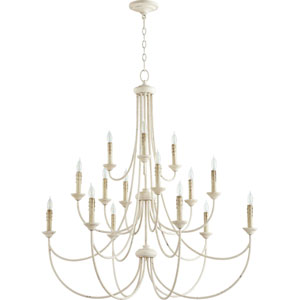 Eastminster French White 15-Light Chandelier