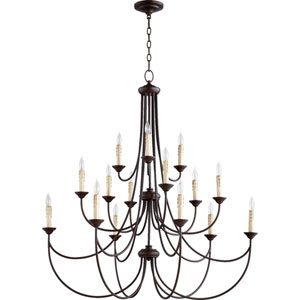 Eastminster Rubbed Bronze 15-Light Chandelier