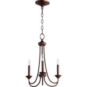 Eastminster Rubbed Bronze Three-Light Chandelier