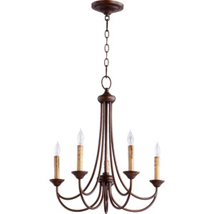 Eastminster Rubbed Bronze Five-Light Chandelier