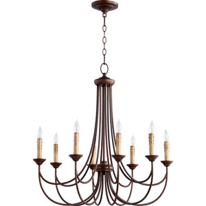 Eastminster Rubbed Bronze Eight-Light Chandelier