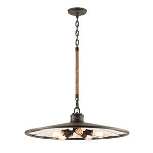 Cosette Bronze Five-Light Lantern Pendant