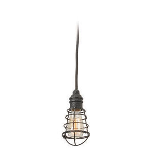 Jax Aged Pewter One-Light Mini-Pendant